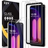 [2+2 Pack] EGV Screen Protector Compatible with LG V60 ThinQ 5G / LG V60 ThinQ 5G UW 6.8 inch, for The Dual Screen, 2 Pack Te