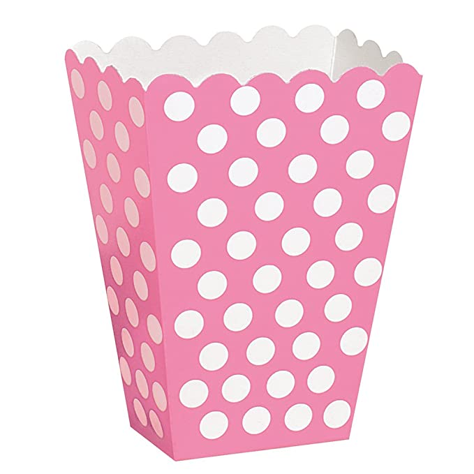 150 opinioni per Unique Party 59295- Scatole Popcorn Sorpresa a Pois Rosa Shocking, Confezione da