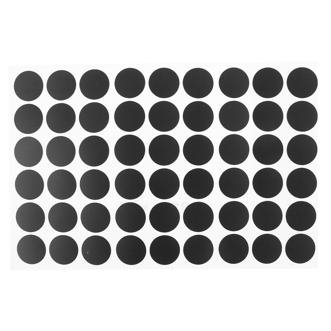 uxcell Home Table Self-Adhesive Screw Hole Covers Caps Stickers 54 in 1 Black a15112300ux1154
