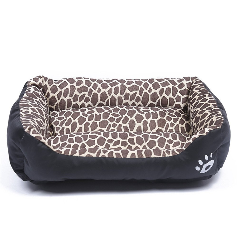 Leopard M 22.8\ Leopard M 22.8\ LXLP Kennel Doghouse Bed 2017 New Washable Premium Dog and Cat Bed PP Cotton A Puppy and Kitty Dream Beds-Four Seasons Common 12 Colour 6 Size (M, Leopard)