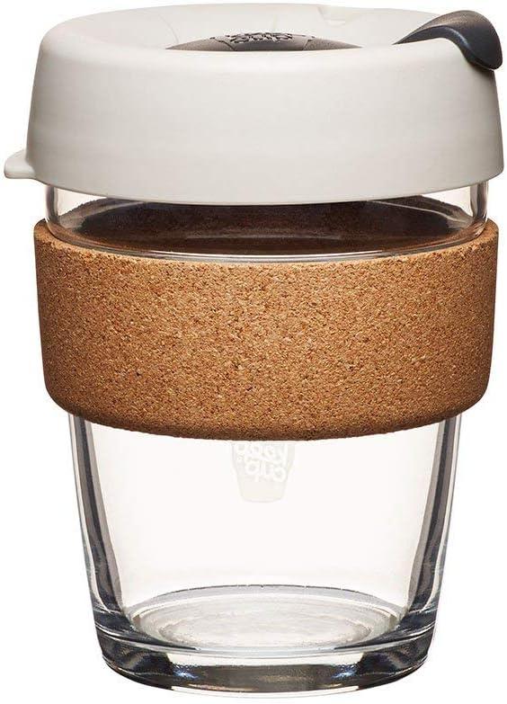 KeepCup 12oz Reusable Coffee Cup. Toughened Glass Cup & Natural Cork Band. 12-Ounce/Medium, Filter