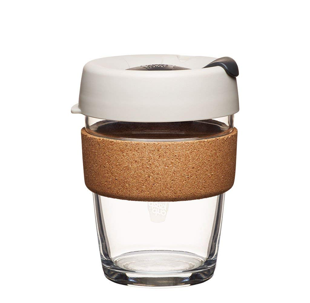 KeepCup 12oz Reusable Coffee Cup. Toughened Glass Cup & Natural Cork Band. 12-Ounce/Medium, Filter by KeepCup