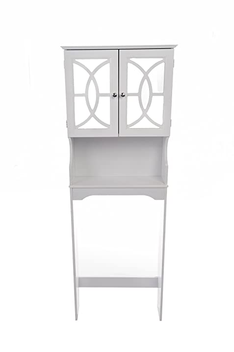 Home Source Industries 5196 Bathroom Space Saver With Shelf And 2 Door  Mirrored Cabinet,