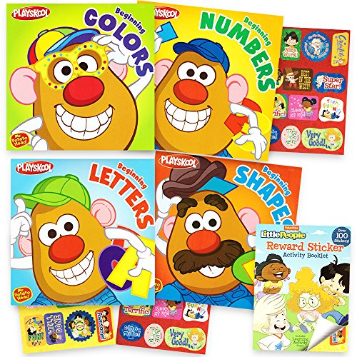 """Playskool """"My First Books"""" Set of 4 Baby Toddler Board Books (ABC Book, Colors Book, Numbers Book, Shapes Book)"""