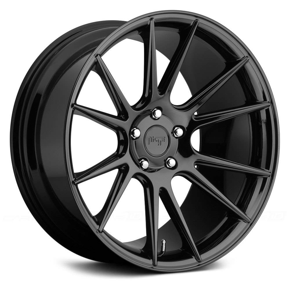 20x10 NICHE Vicenza M152 Gloss Black Wheels 5x4.5 Bolt Pattern with +40 Offset