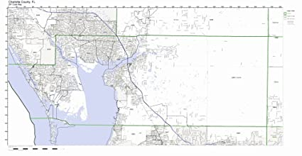 Florida Current Map.Amazon Com Charlotte County Florida Fl Zip Code Map Not Laminated