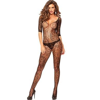 d6ce1a662eec9 Sexy bodystocking bodysuit catsuit lingerie lace fishnet: Amazon.co.uk:  Clothing
