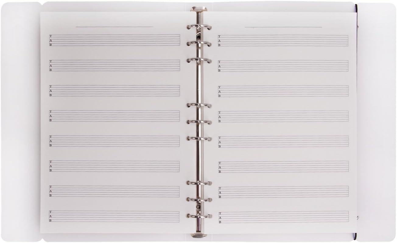 Cahier de Musique Port/ées Carnet de Croquis en Ligne Manuscrit B5 /à Spirales Blocs Note 100 pages Archives Pour notes de Piano Guitare Trompette Violoncelle Bass Saxophone do-r/é-mi-fa-sol-la-si