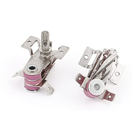 AC 250V / 125V 16A bimetálicos termostato regulable Calefacción limitador 2pcs