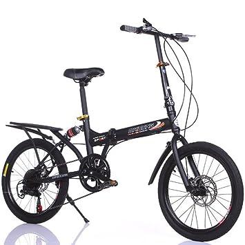 YEARLY Bicicleta plegable estudiante, Bicicleta plegable infantil Variable 6 velocidad de Shimano Hombre y mujer