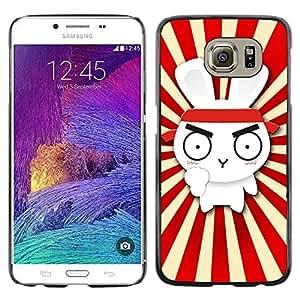 iKiki Tech / Estuche rígido - Design Cute Rabbit Ninja Samurai - Samsung Galaxy S6 SM-G920