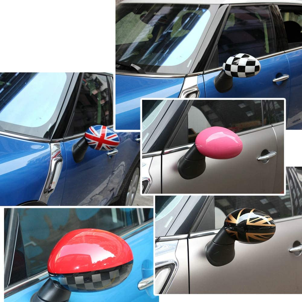 Heinmo New PC For F55 F56 MINI copper Rearview Cover Outside Side Mirror Cover Cap Shell car-styling rear mirror cover without hole