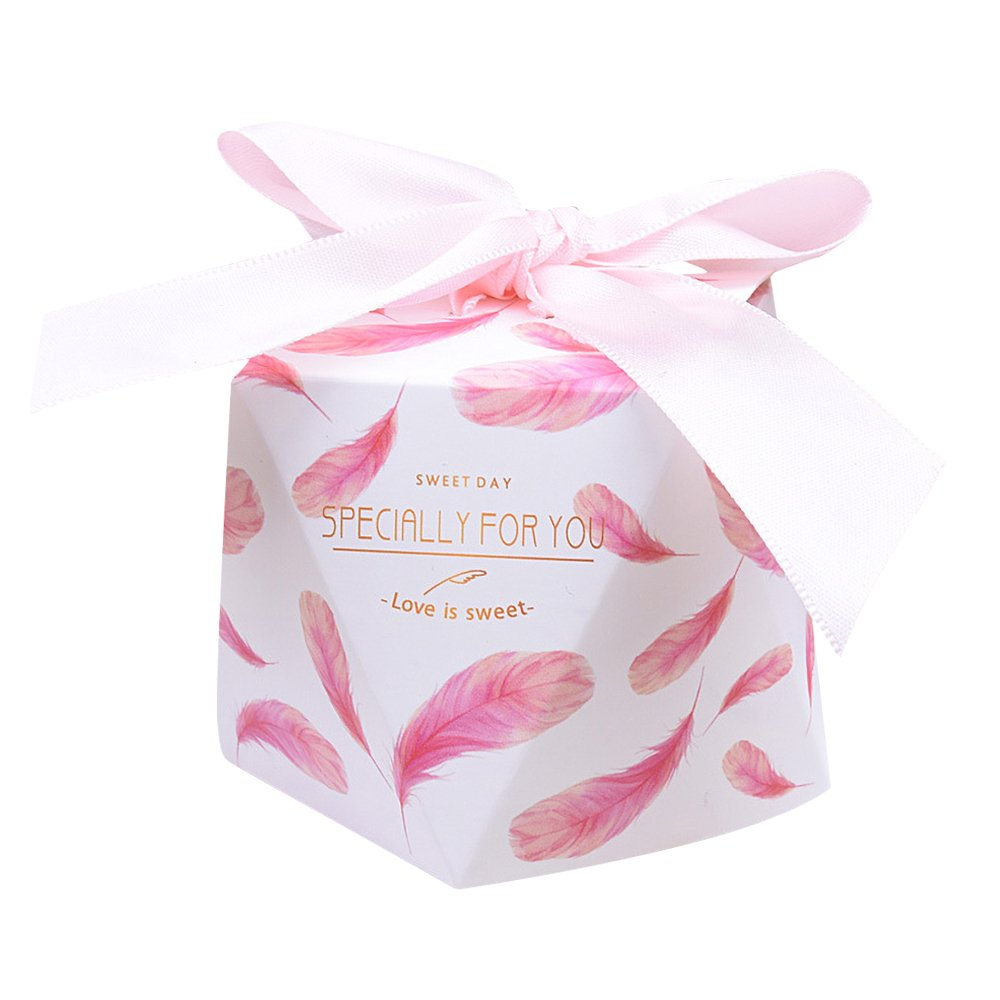 Amazon.com: Candy Favor Box for Wedding Party Decor Gift Wrap, Pack ...
