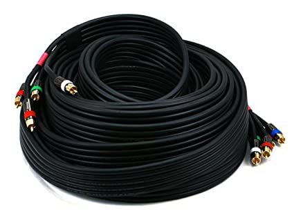 Monoprice 102776 50-Feet 18AWG CL2 Premium 5-RCA Component RG6-U Video