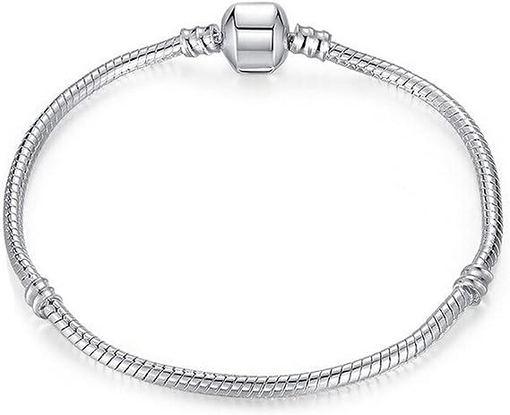 Charm Buddy Girls' 16cm Childs Silver Plated Charm Bracelet Fits Pandora