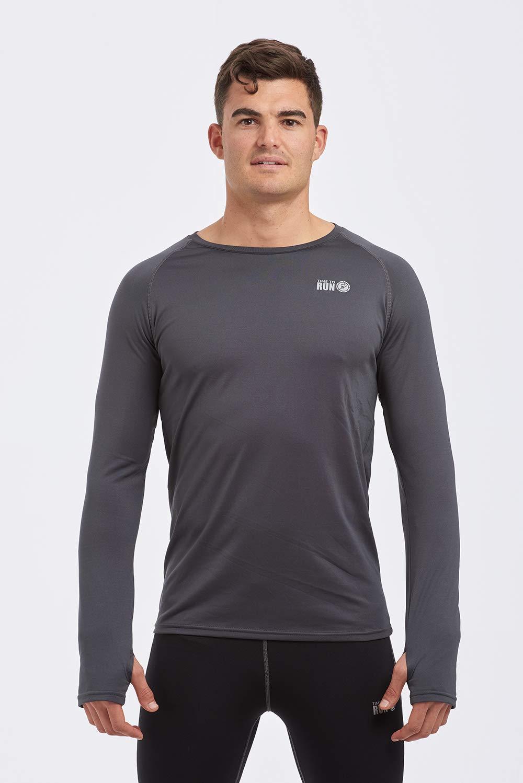 Time To Run T-Shirt de Course Thermique l/éger /à col Rond pour Homme