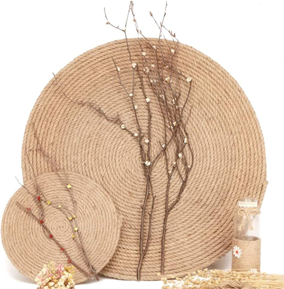 Hemp Rope 6mm,20M 4-Ply Natural Thick Jute String Garden Bundling 64 Feet Strong Jute Twine for Gardening and Floristry