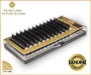b6724936b87 Amazon.com : Blink Lash Stylist 100% authentic PRO Mink Eyelashes, 12 mm -  D curl - 0.2 mm NEW : Beauty
