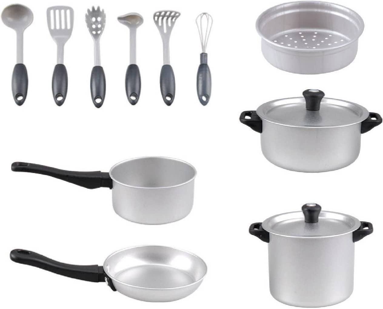Kochtopf Set Metall Chef Collection 13 tlg mit Zubeh/ör Playgo 6940