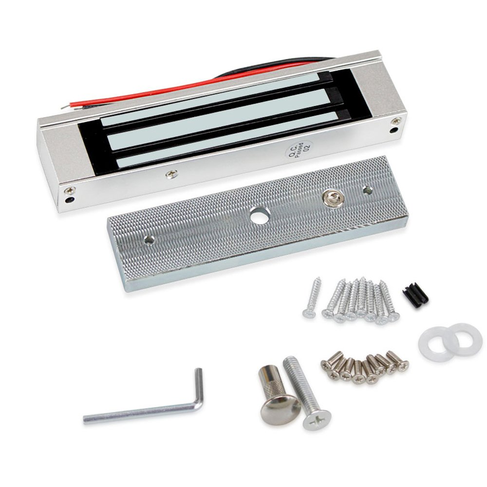 20 Tarjetas HFeng de sistema de control de acceso a la puerta Kit de controlador RFID Teclado 125 KHz con fuente de alimentaci/ón 180KG Cerradura magn/ética el/éctrica Impermeable