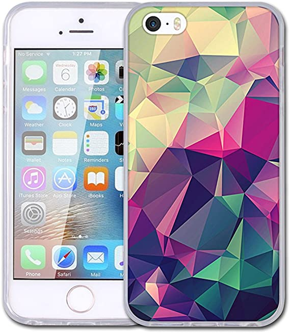 Amazon Com Khkj Iphone 5 Case Iphone 5s Case Iphone Se Case Fashion Design Clear Bumper Anti Scratch Tpu Skin Cases Cover For Apple Iphone 5 5s Se Style 01 Electronics
