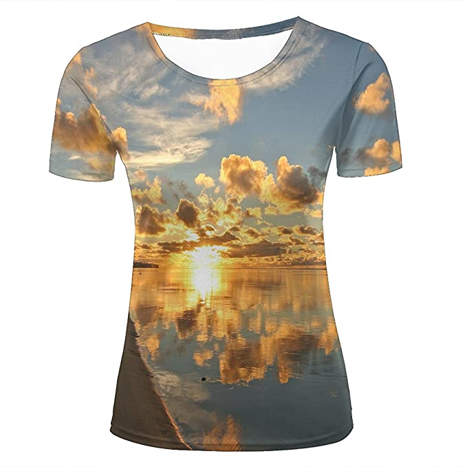Unisex 3D Print T-Shirt splendid clouds on sea Graphic Casual Couple Tees FMP3DR