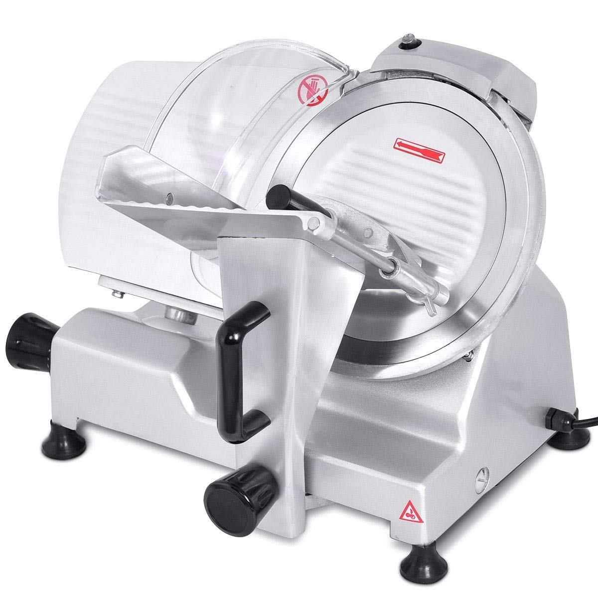 "zwan 10"" Blade Commercial Meat Slicer Deli Meat Cheese Food Slicer with Ebook"