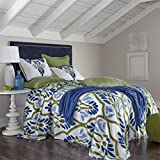 BrylaneHome Darcy Chenille Bedspread (Blue Green,Twin)