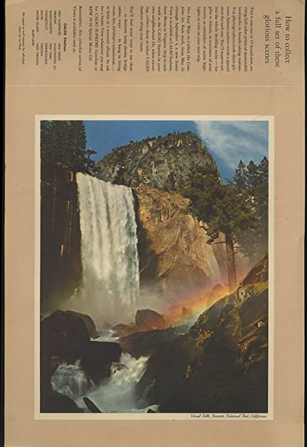 Ansel Adams Vernal Falls Yosemite Color Print For CALSO Gasoline 1950s