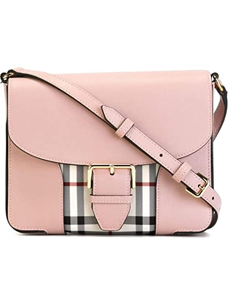 BURBERRY Woman's Dickens Pink Horseferry Check Leather