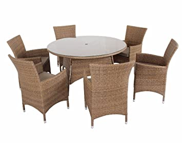 henley 6 seat rattan garden furniture set from green room
