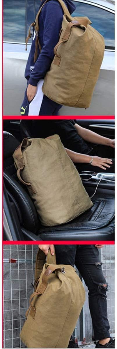 Leisure Travel Fashion Bag Canvas Bag Bucket Bag Large Capacity Bag Outdoor Bag Runtongshanghang Mens Sports Backpack Color : Dark Blue, Size : L