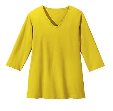 adonia mode Basic Shirt 3/4 Arm Modal Baumwolle , Gr. 40/42 - 48/50 , 4  Farben zur Auswahl: Amazon.de: Bekleidung