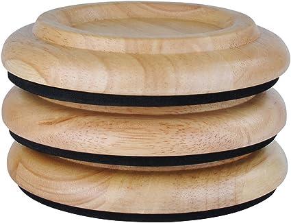 Mahogany Satin Finish Standard Size Wood Piano Caster Cups