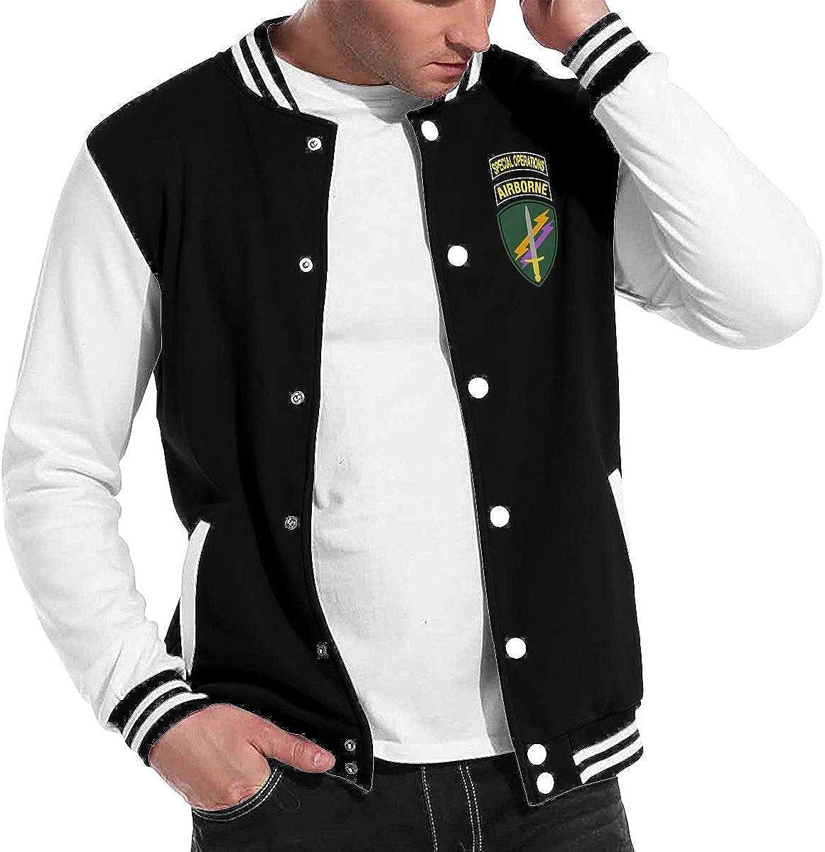 United States Army Special Operations Command Unisex Baseball Uniform Jacket Sweatshirt Sport Coat