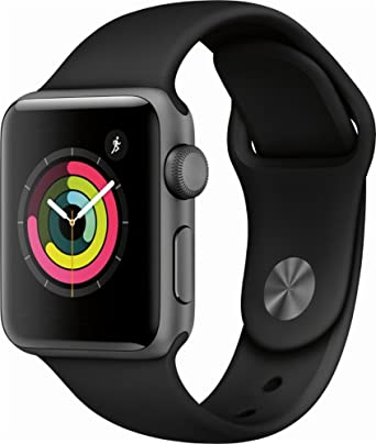 Apple Watch Series 3 (Gps), 38mm Space Gray Aluminum Case With Black Sport Band   Mqkv2 Ll/A (Certified Refurbished) by Apple