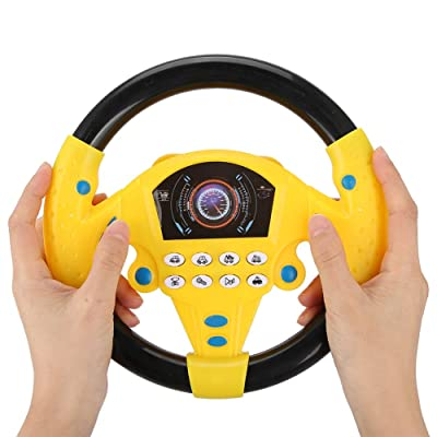 non Childrens Steering Wheel Toys Simulation Electric 360 Degrees Rotation Car Steering Wheel Toy Childhood Educational Toys Home Use: Toys & Games