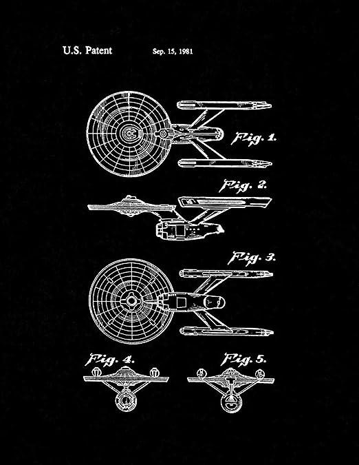 USS Enterprise from Star Trek The Motion Picture Patent Print Blueprint