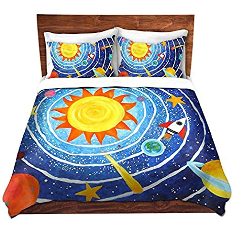 DiaNoche Designs Microfiber Duvet Covers NJoyArt Solar System VII