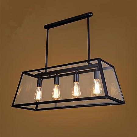 Araña Iluminación Lámpara Colgante de Hierro Forjado de la ...