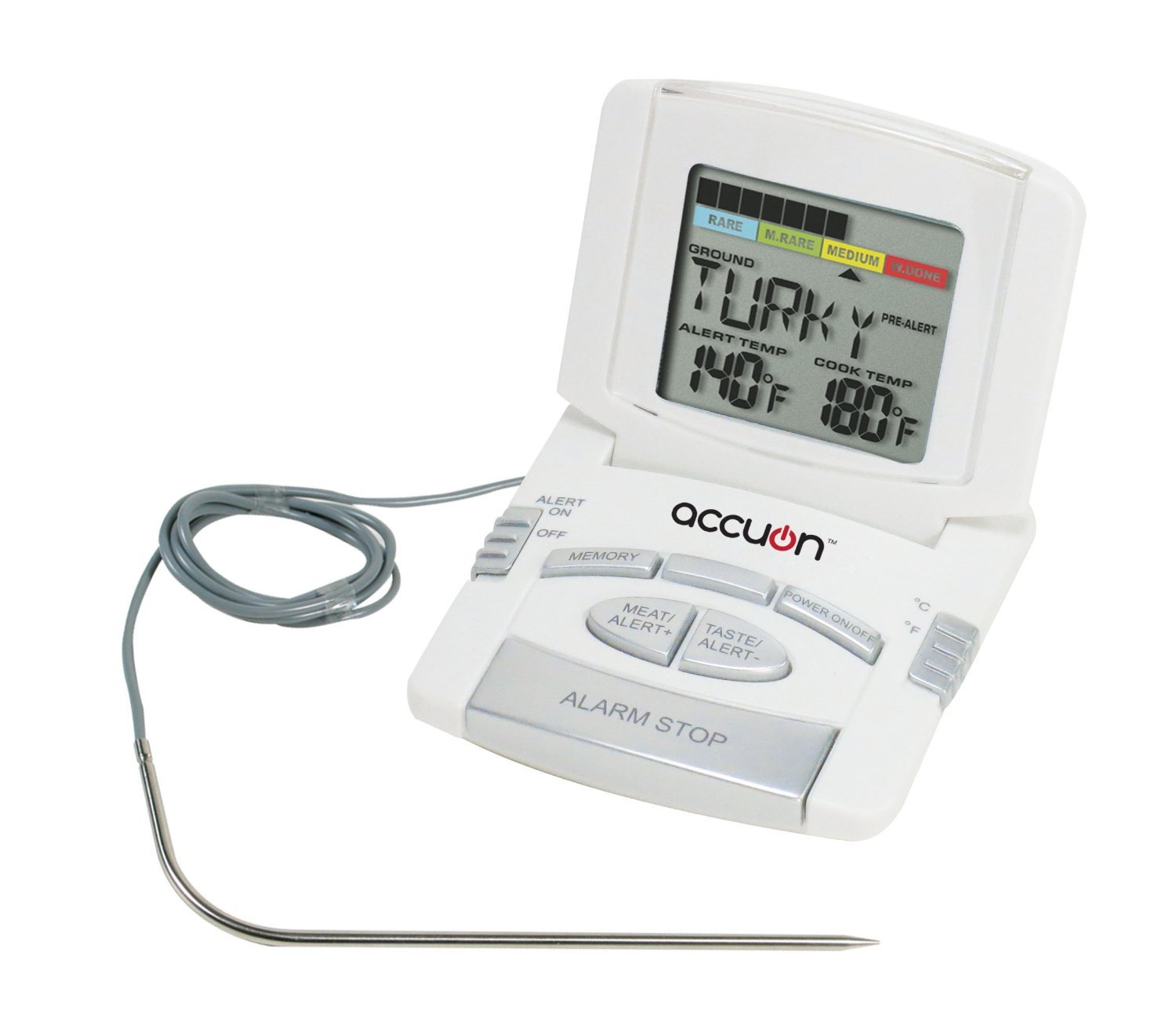 Accuon Digital Programmed Instant-read Cooking Thermometer with Probe ACU0202