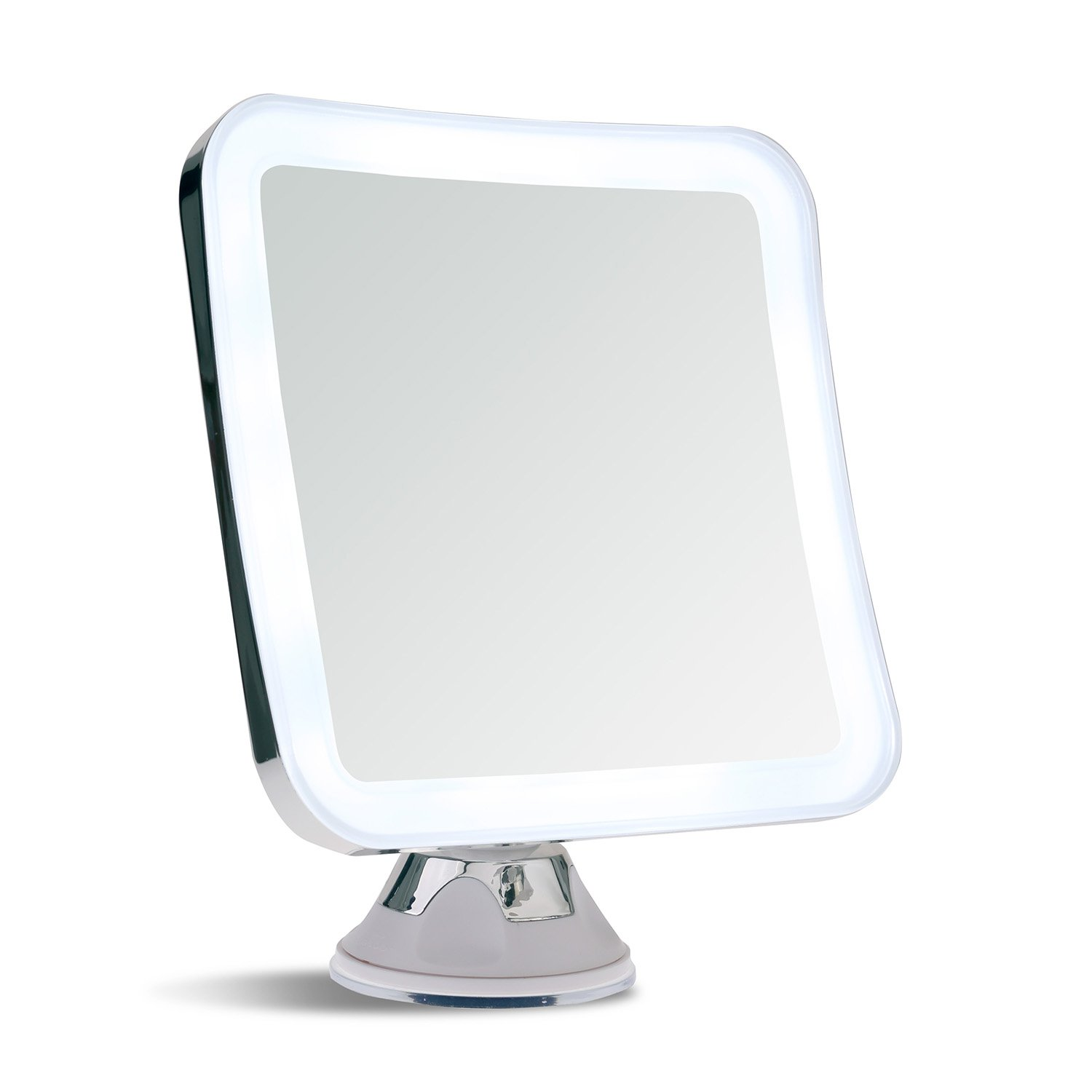 Sanheshun 5x magnifying lighted travel makeup mirror for Lighted mirror