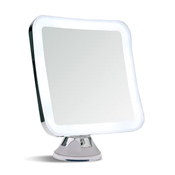 Amazon sanheshun 7x magnifying lighted travel makeup mirror sanheshun 7x magnifying lighted travel makeup mirror locking suction mount battery operated square mozeypictures Images