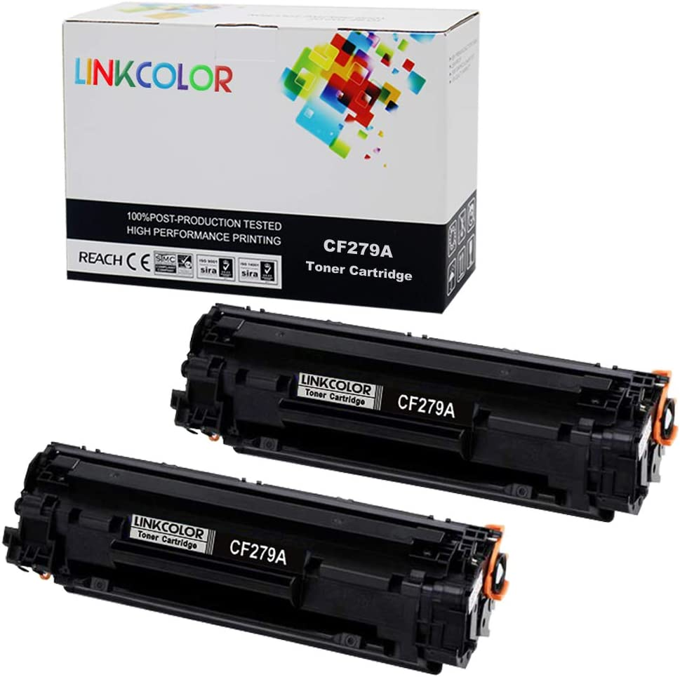 Linkcolor Compatible Toner Cartridge Replacement for HP 79A CF279A 79A CF279A M12 M12a M12w M26a M26nw ( Black , 2 pk )