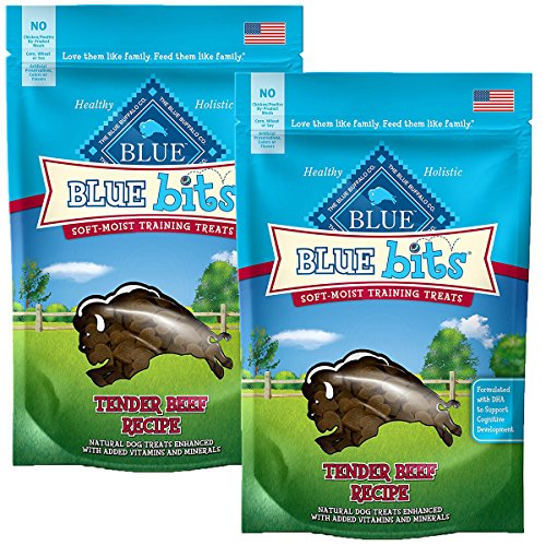 BLUE Bits Training Dog Treats (Beef Soft-Moist Bits, 4 oz-2PK) (Blue Bits Tender Beef Recipe)