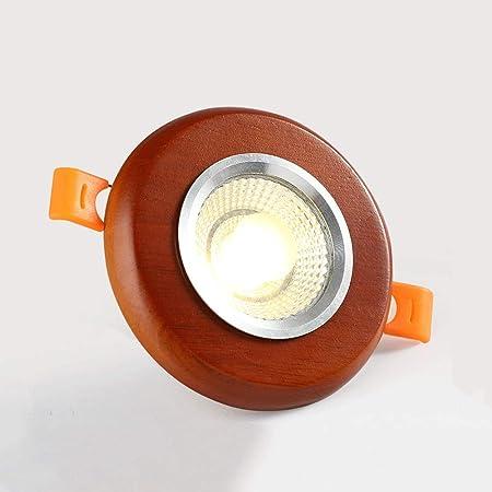 Lionze Redwood Luz de Techo LED Redondo de Aluminio Empotrable ...