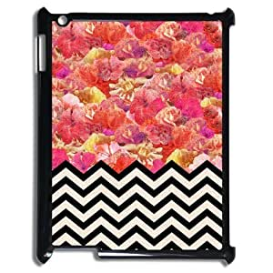 Godstore Custom New Style Colorful Chevron Pattern Cover Hard Plastic Ipad 3 Case