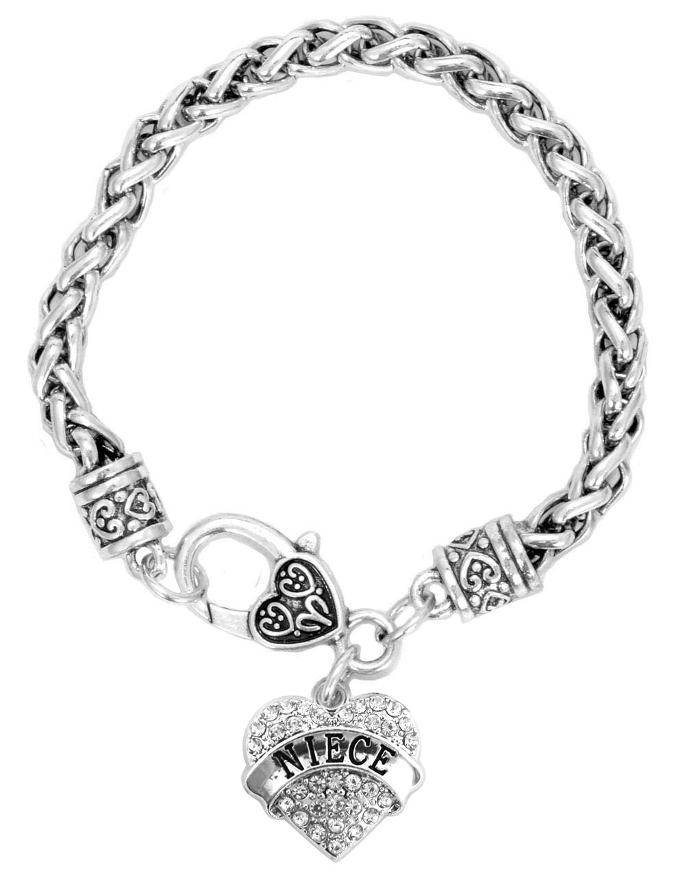 graduation gift for niece engraved crystal adorned heart pendant