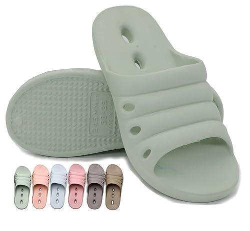325787bce Lijeer Shower Shoes Women Men Slippers Bathroom Sandals Massage Rubber Slipper  Non Slip House Plastic Spa Indoor Quick Drying Beach Soft Swimming Pool ...