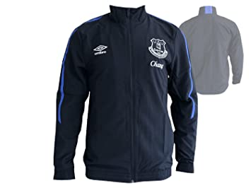 Umbro FC Everton Fan Chaqueta Premier League toffees Woven Jacket fussba lltop, Unisex, Galaxy